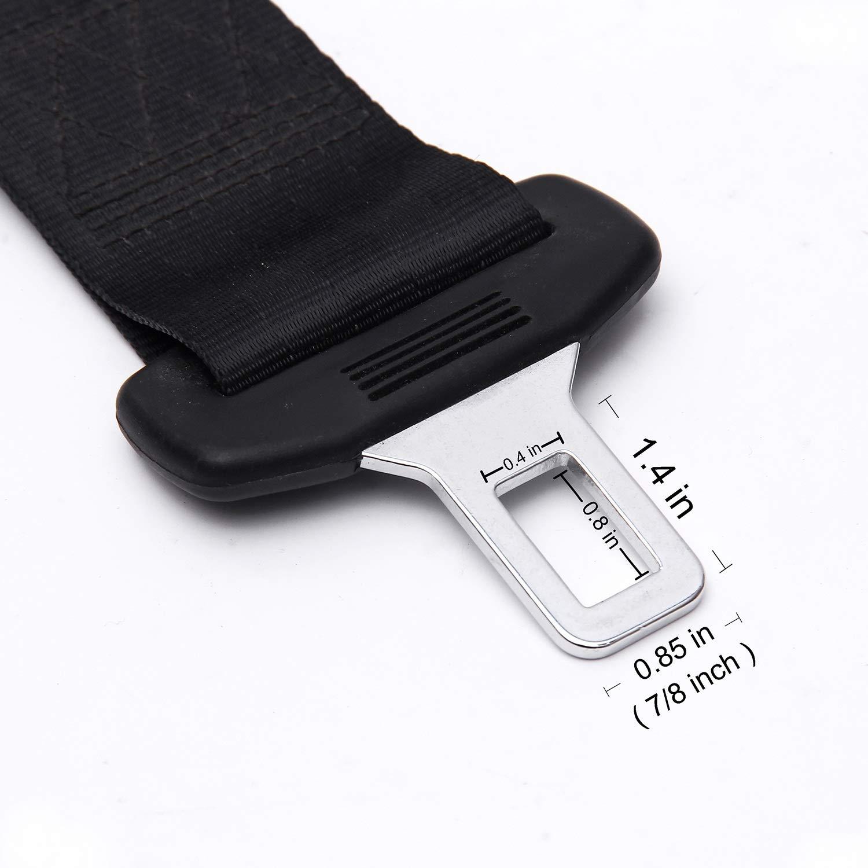 Seat Belt Extender - 8 Retractable Seat Belt Extension 7//8 Metal Tongue 2 Packs Seatbelt Extension E11 Safety Certified