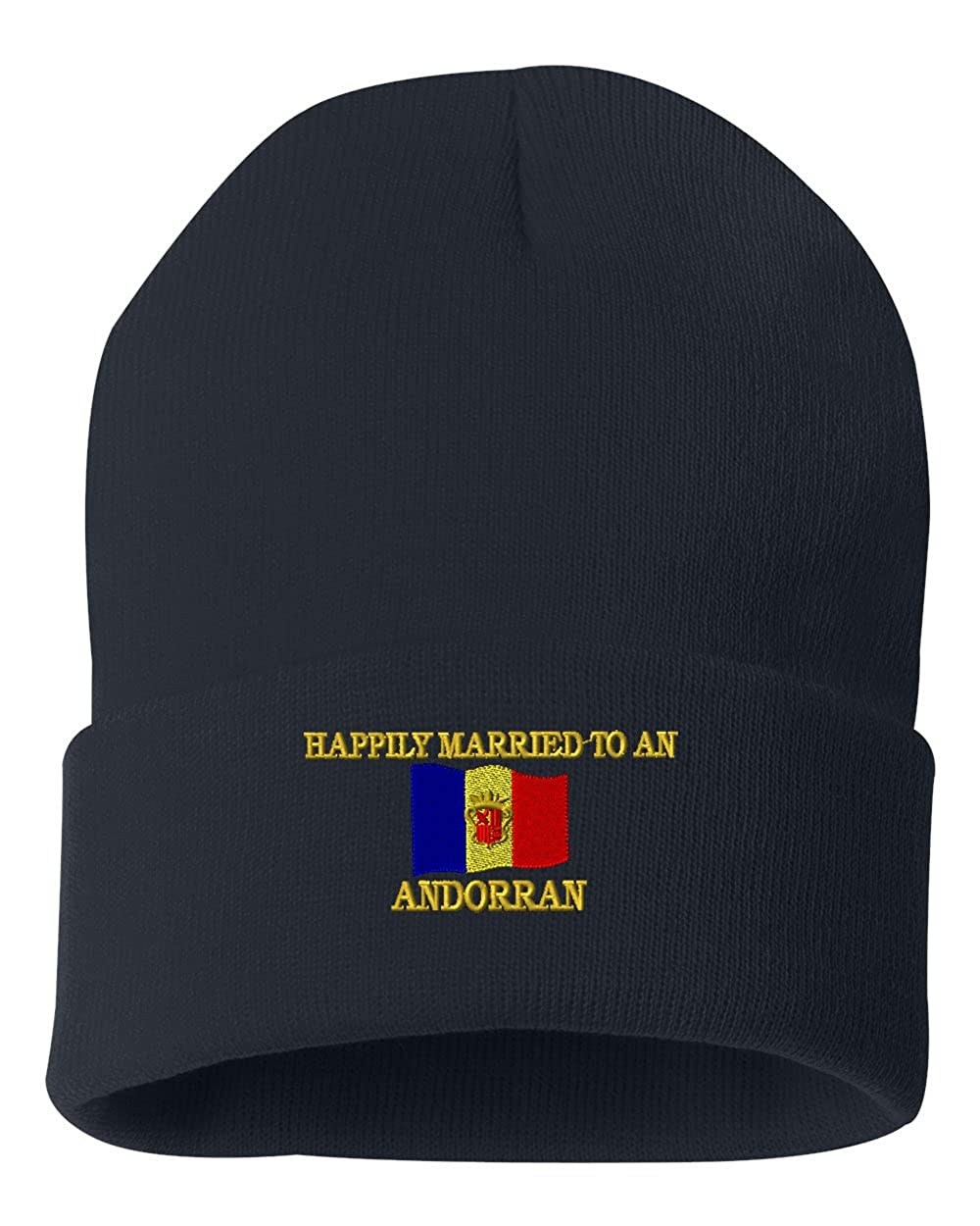 HAPPLY MARRIED TO AN ANDORRAN Custom Personalized Embroidery Embroidered Beanie