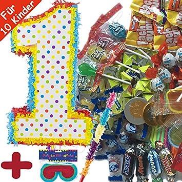 Piñata Juego: * Número 1 * con + Máscara + + 100 piezas ...