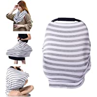 Nursing Cover for Breastfeeding Super Soft Cotton Multi Use for Baby Car Seat Covers Canopy Shopping Cart Cover Scarf Light Blanket Stroller Cover