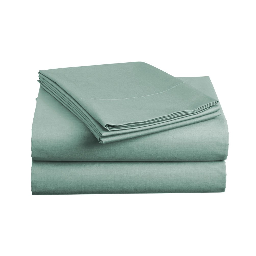 Luxe Bedding Bed Sheet Set - Brushed Microfiber 2000 Bedding - Wrinkle, Fade, Stain Resistant - Hypoallergenic - 4 Piece (King, Spa Blue)