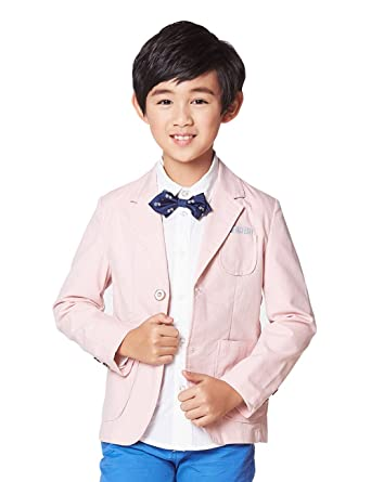 Amazon Com Bycr Boys Formal Wedding Suit Pocket Blazer For Kids