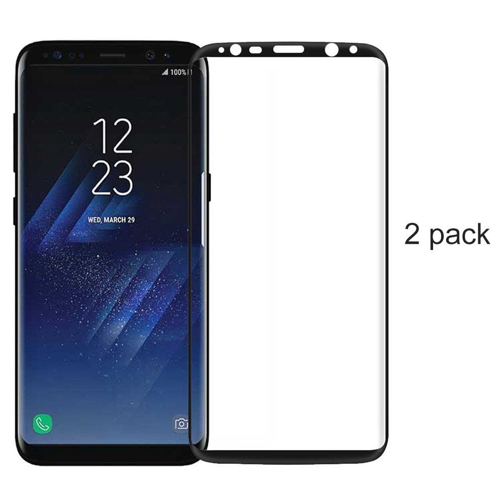 (2 Pack)Protector de Pantalla Samsung Galaxy S8, EUGO Full Coverage Film Protector de Pantalla Screen Protector [No hay Burbujas]: Amazon.es: Electrónica