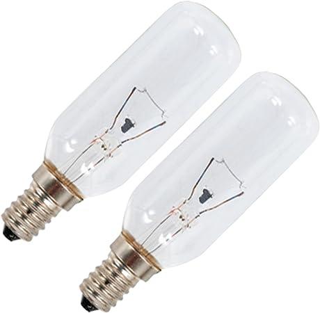 Spares2go E14 SES largo 40 W lámpara bombillas para Electrolux Horno campana extractora/extractor ventilación (Pack de 2): Amazon.es: Hogar