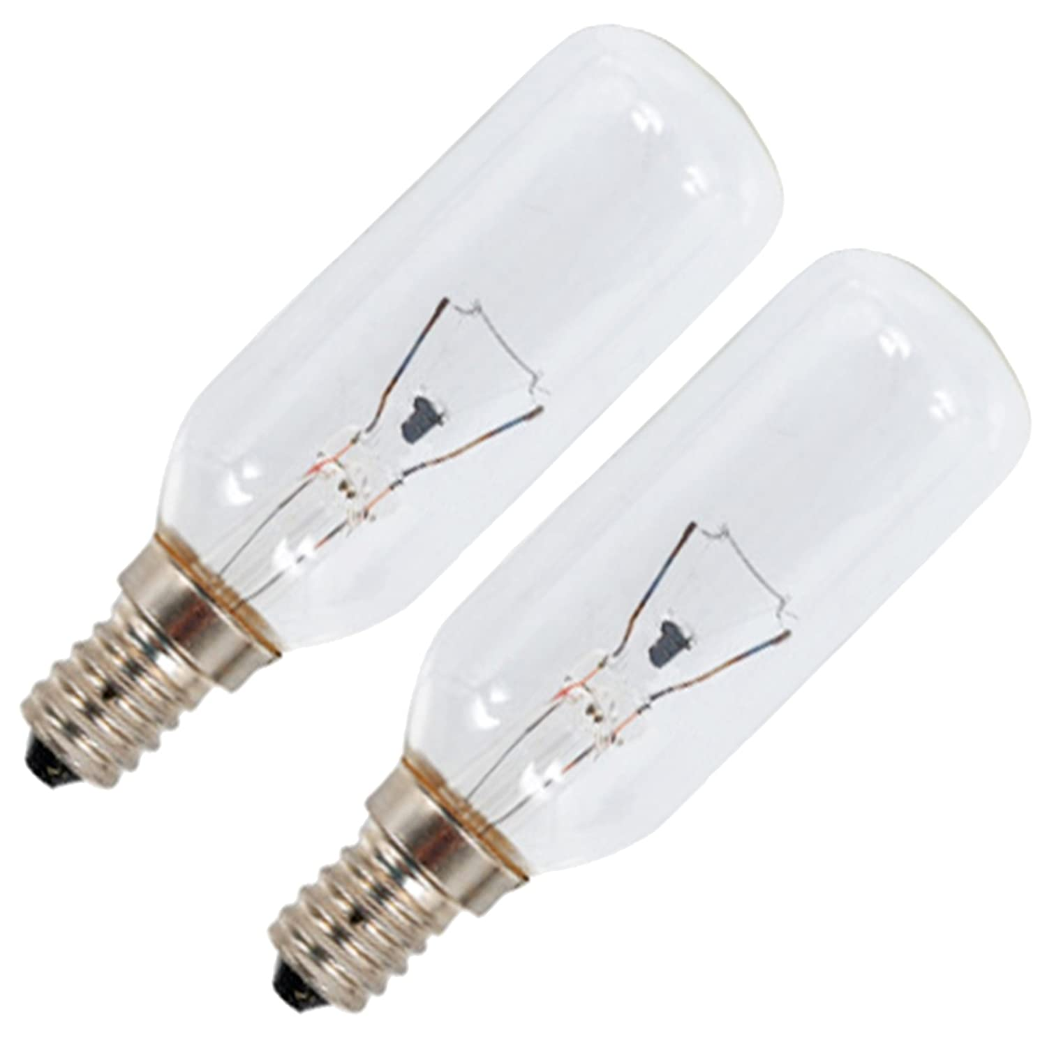 SPARES2GO E14 SES Long 40W Lamp Light Bulbs for Currys Essentials Oven Cooker Hood/Vent Extractor (Pack of 2)