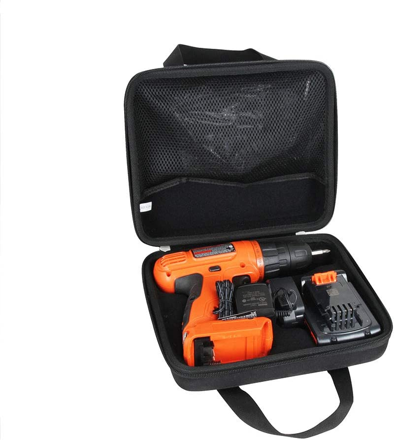 Hermitshell Hard Travel Case for BLACK+DECKER 20V MAX Cordless Drill/Driver with 30-Piece Accessories (LD120VA)