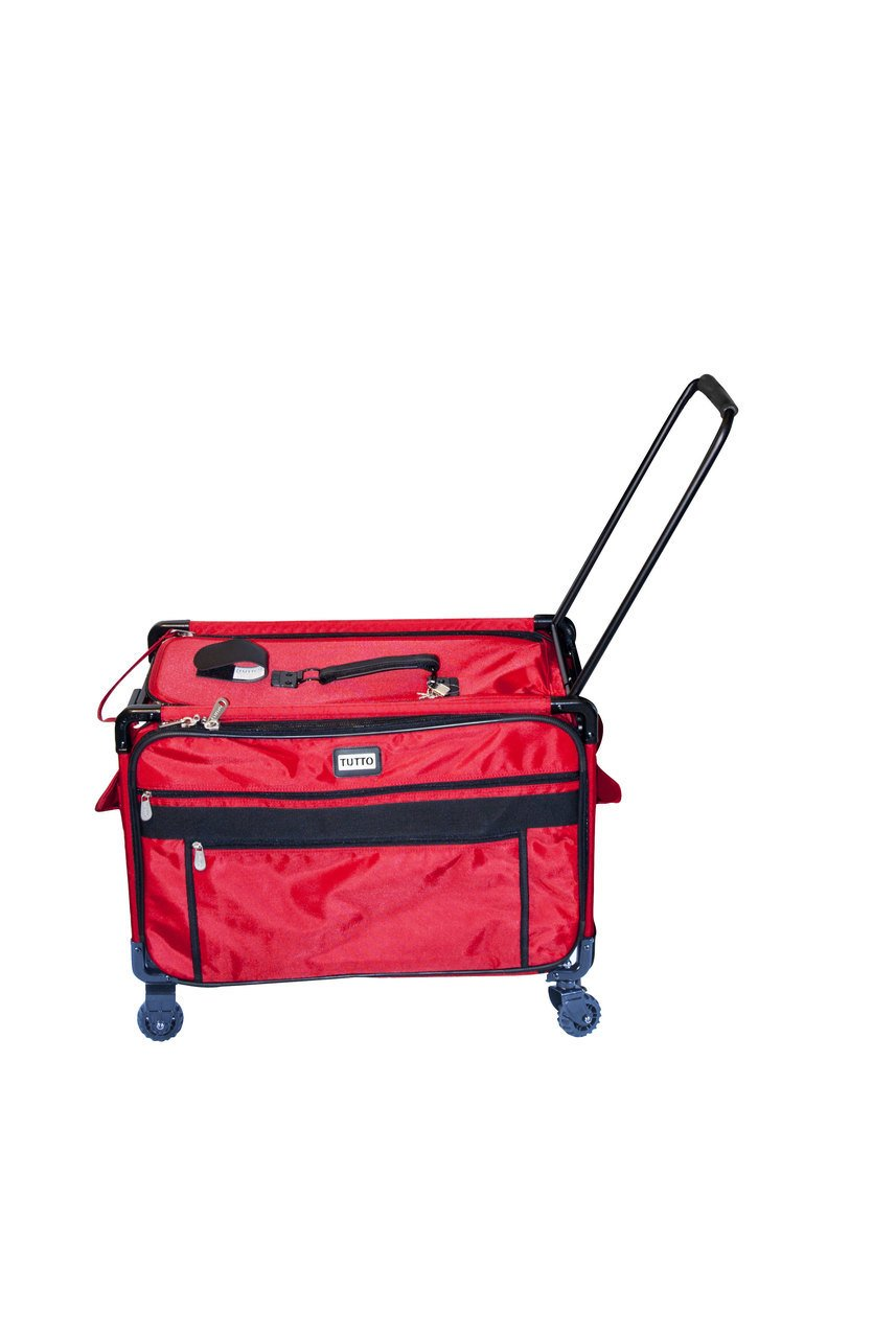 Tutto Monster Machine on Wheels Sewing Machine Case, 2XL Red by Tutto
