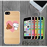 Toilet Paper and Poop BFF Custom made Case/Cover/skin FOR iPhone 5C -White-Rubber Case