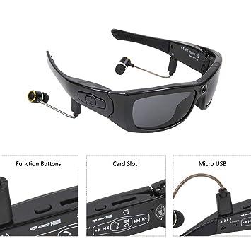 WMYY Cámara Bluetooth Gafas De Sol 1080P HD Gran Angular 120 ° Gafas Deportivas Al Aire Libre Registro De Ciclismo Adecuado Montañismo Esquiando Viajes: ...