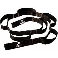 Fita de Alongamento Muvin - Faixa de Resistência Rígida - Não Elástica - 160cm Comprimento com 8 Alças de 15cm - Pilates…