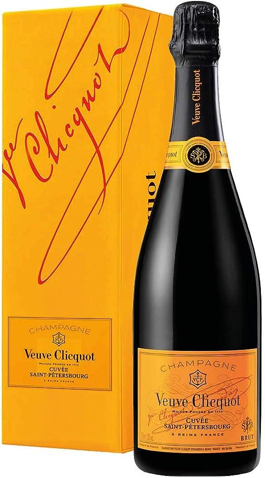 Champagne aoc cuvée saint-pétersbourg veuve clicquot 0,75 l astucciato B07V4SVJQF