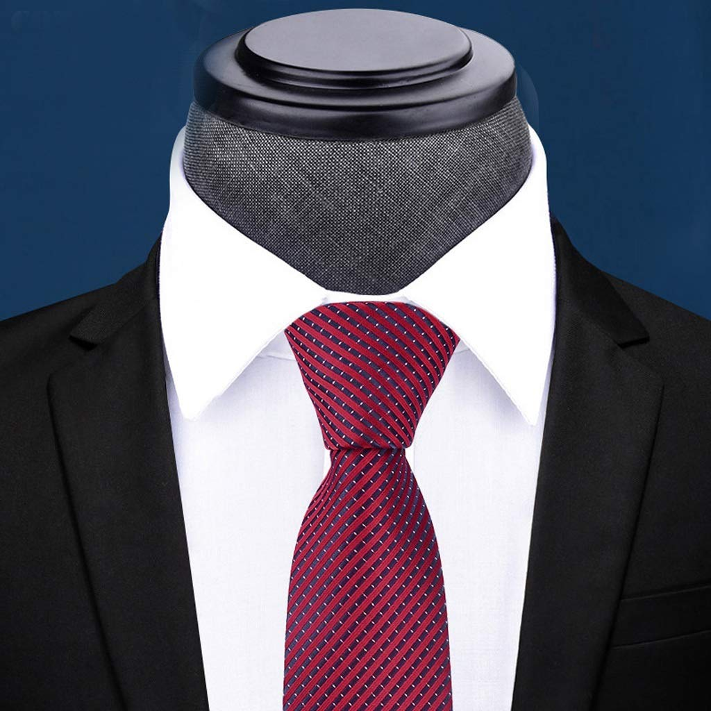 NLXTXQC Mens Fashion Tie Zipper Free Knotted Business Dress Solid Color Simple Gift Box Necktie Tie Polyester Neckwear Pre Tied Color : Dark Gray