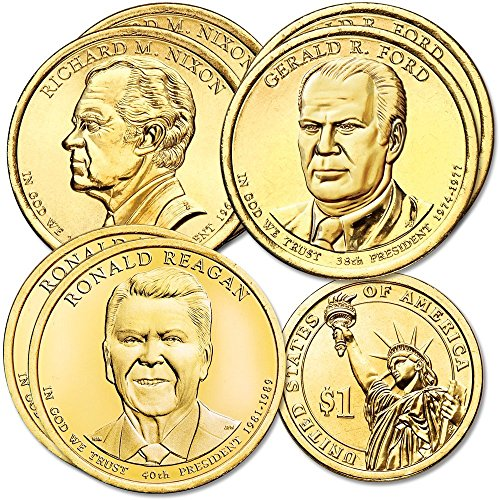 2016 Various Mint Marks Presidential Dollar set Denver and Philadelphia mint 6 coins Uncirculated