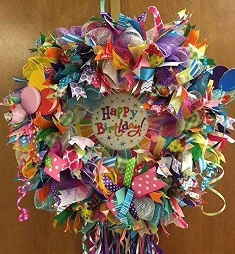 HAPPY BIRTHDAY Burlap Wreath with Sparkle. Super Cute