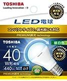 東芝ライテック LED電球 ミニクリプトン形 広配光タイプ 調光器対応 40W 昼白色 LDA5N-G-E17/S/D40W