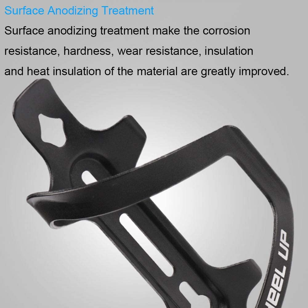 MOCOBO Water Bottle Cage Bicycle Cup Holder Adjustable and Lightweight Drink Alloy Aluminum Brackets for Road Mountain and Kids Bikes 1PCS Black
