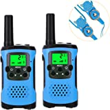 Walkie Talkies for Kids, Super Easy to Use 4 Miles Long Range Kids Walkie Talkies, 22 Channel 2 Way Radios Toys for Boys Girls Outdoor Adventures with Flashlight and Lanyard (Blue)