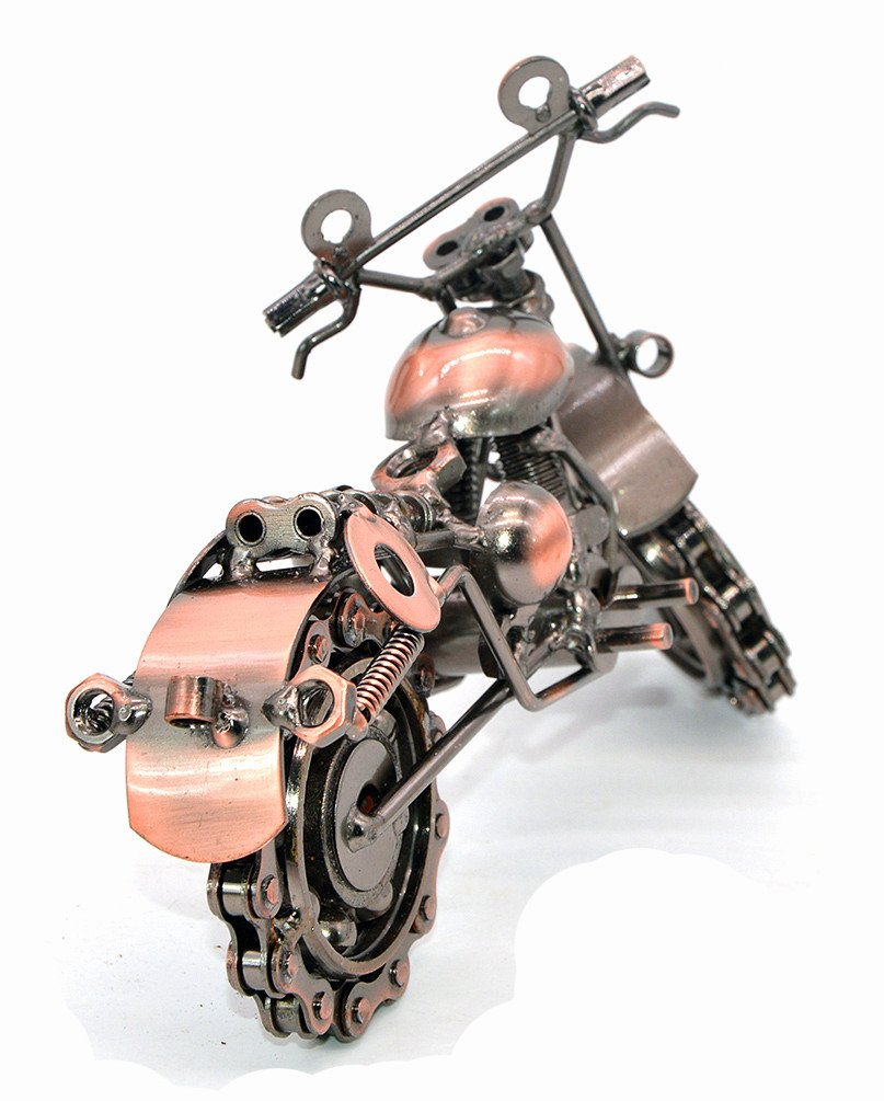 Creative Hand Soldering Wrought Iron Motorcycle Model Metal Moto Collection Home Desk Decor Ornaments Model 1