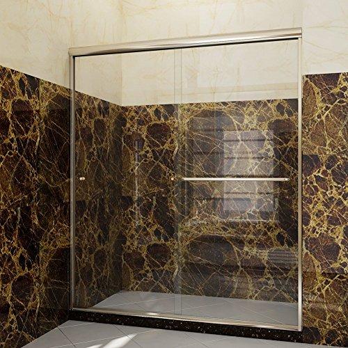 SUNNY SHOWER B020 Semi Framed Sliding Shower Door - Framed Sliding Door