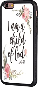 """iPhone 6/6s Case,BOSLIVE Pink Flower Bible Verse 1 John 3:1 I am a Child of God Design TPU Slim Anti-Scratch Protective Cover Case for iPhone 6/6s 4.7"""""""