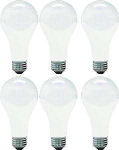 GE Lighting Soft White 46814 150-Watt, 2680-Lumen A21 Light Bulb with Medium Base, 6-Pack