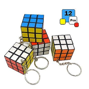 Mini llavero de 3 x 3 cubos, 1,2 pulgadas de velocidad Rubik ...