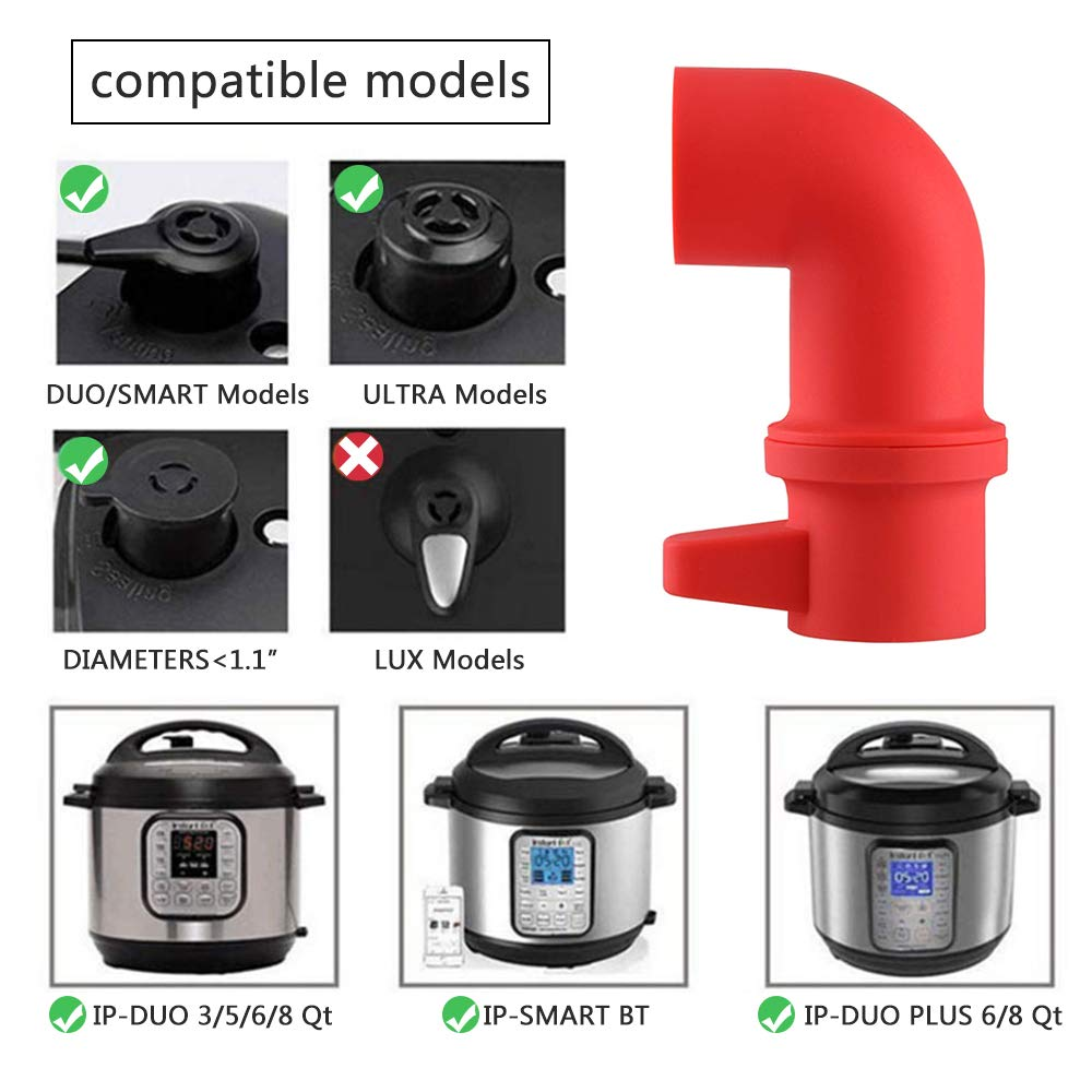 Instant Pot Steam Release Diverter Silicone Pressure Release Accessory 360° Rotating Design for Instant Pot or Pressure Cooker by Pro-like (Image #5)