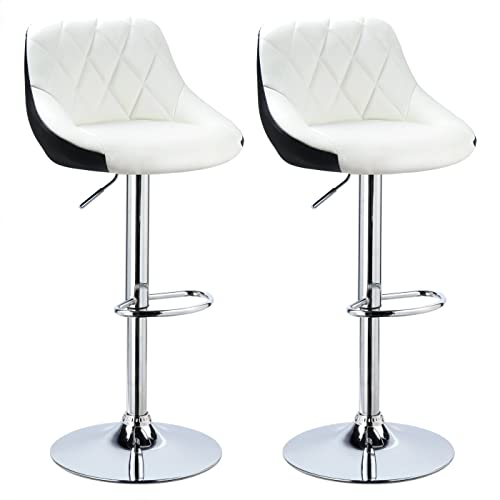 woltu bh30ws 2 design 2 couleurs tabouret de bar lot de 2 avec sige bien - Tabouret Bar Design