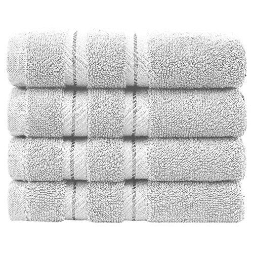 Premium, Turkish Towel Set, Luxury Hotel & Spa Towel Sets for Maximum Softness and Absorbency by American Soft Linen (Washcloth Set, White)