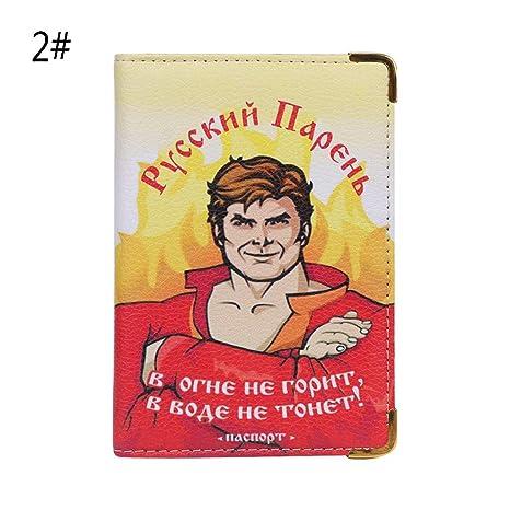 Ogquaton Tapa de la Tarjeta de crédito Rusia Porta Pasaporte ...