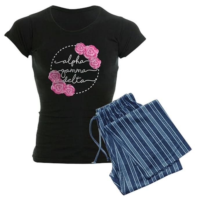 Cafepress Alpha Gamma Delta Floral Womens Pajama Set Amazon Ca