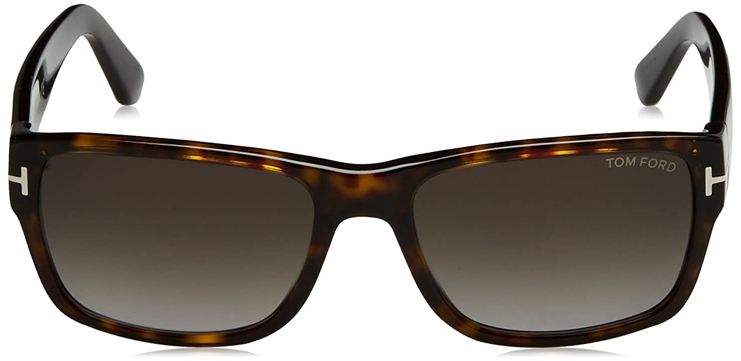 71760abf39 Tom Ford Sunglasses 0445 Marson 52B Dark Havana Smoke Grey Gradient at Amazon  Men s Clothing store