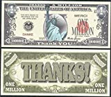 Statue of Liberty Thanks a Million Dollar Danke Merci Thank You (Lot of 100 Bills)