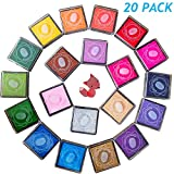 20pcs Craft Ink Pad,Stamps Pads,20 Colors Rainbow
