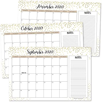 Amazon Com Gold 2020 2021 Large Monthly Desk Or Wall Calendar Planner Big Giant Planning Blotter Pad 18 Month Academic Desktop Hanging 2 Year Date Notepad Teacher Mom Family Home Or Business Office 11x17