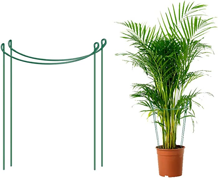 """loofeng Plant Support, Metal 15.7"""" Plant Prop Up Stakes, Garden Semi-Circular Border Support, Set of 2"""