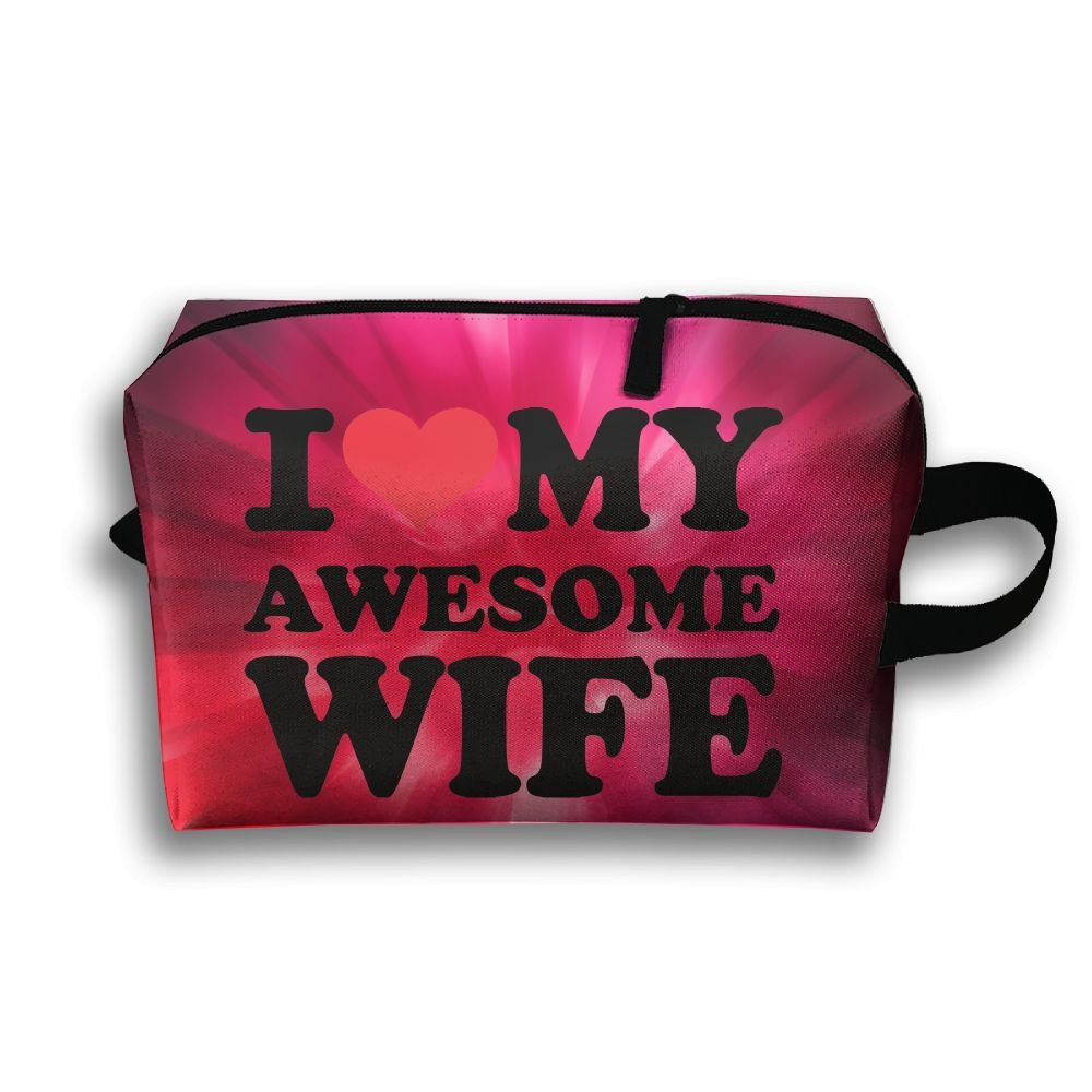I Love My Awesome Wife Travel Bag Multifunction Portable Toiletry Bag Organizer Storage by Loddgew (Image #1)