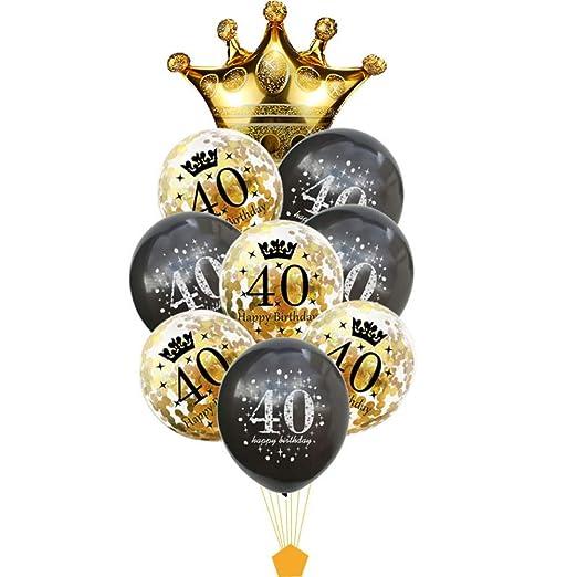 FVNRDS Globos 30 40 50 60 70 80 años Globo de cumpleaños 30 ...