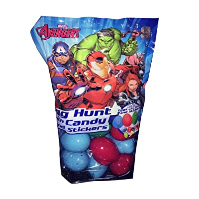 Frankford 22 ct Avengers Easter Egg Hunt Eggs with Candy and Stickers: Toys & Games