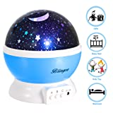 Amazon Price History for:Star Night Light Projector for Kids, Blingco Children's Night Light Lamp, Baby Rotating Star Projector, 4 LED Bulbs 8 Color Changing Modes With USB Cable, Unique Gifts for Kids Baby Children (Blue)
