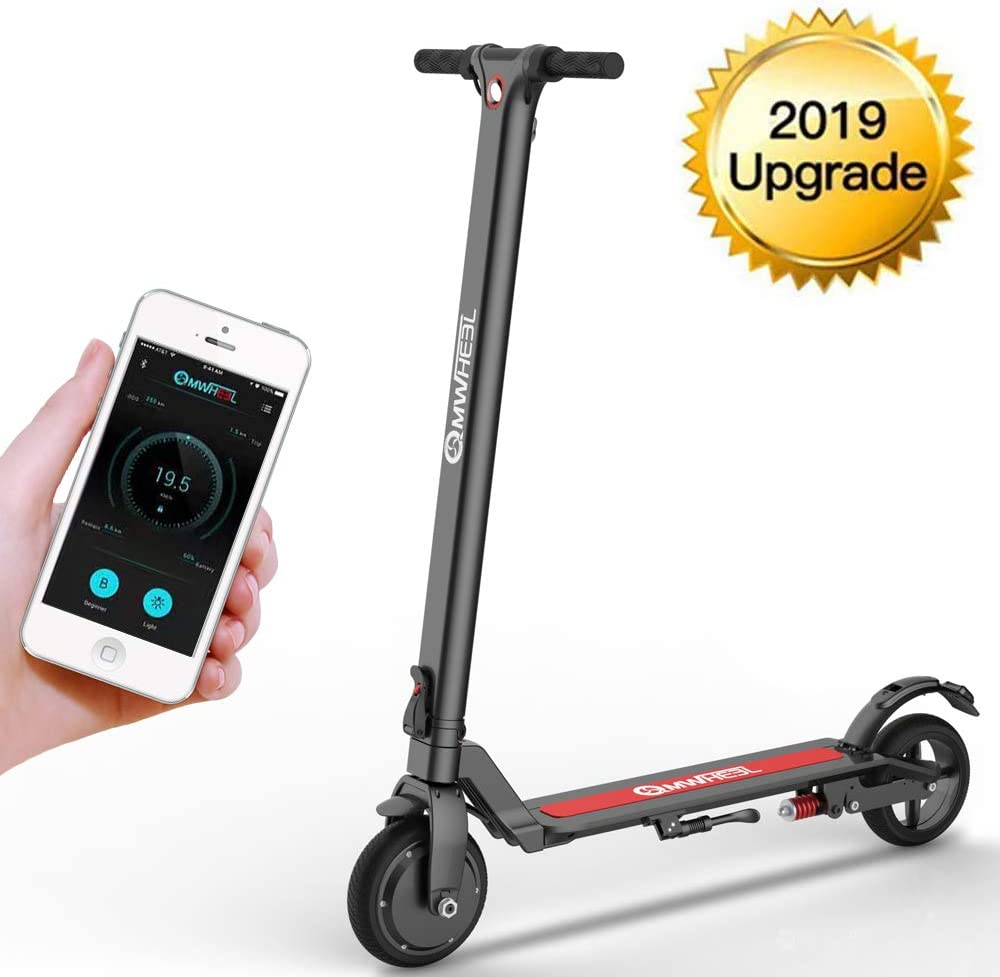 Magicelec Electric Scooter – 250W Motor 8.5 Solid Tires Up to 17 Miles 18.6 MPH One-Step Fold, Adult Electric Scooter for Commute and Travel