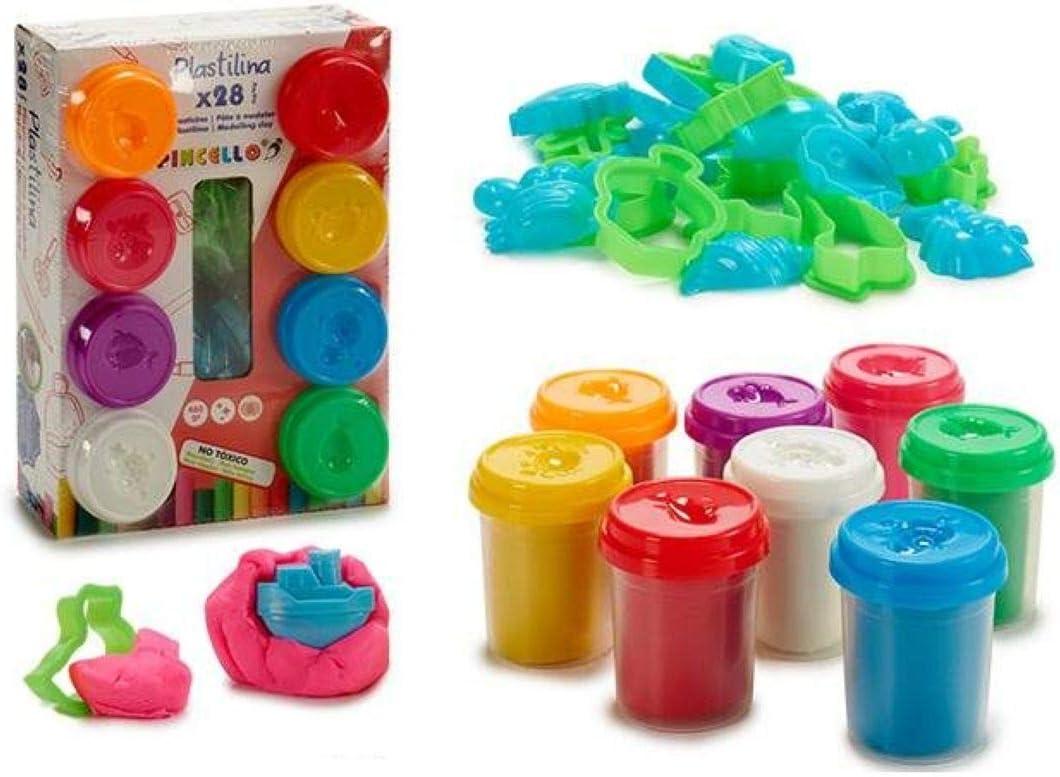 ARTE REGAL Bote Plastilina Caja 8 Unidades con Moldes 22,5x16,5: Amazon.es: Juguetes y juegos