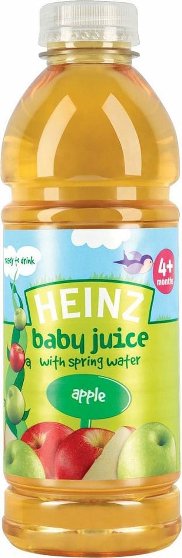 Jus Heinz Baby avec Spring Water 4mois + Apple (750ml) - Paquet de 6