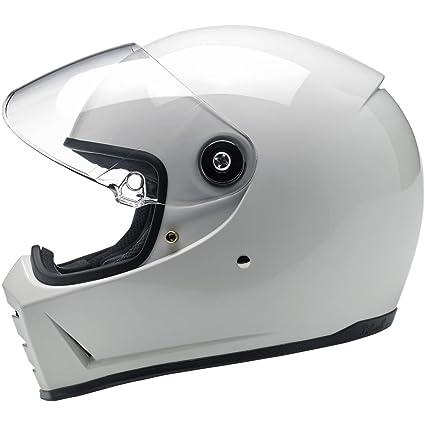 fd31c4360c4 Amazon.com: Biltwell Lane Splitter Helmet - Gloss White - Extra Small -  XSM: Automotive