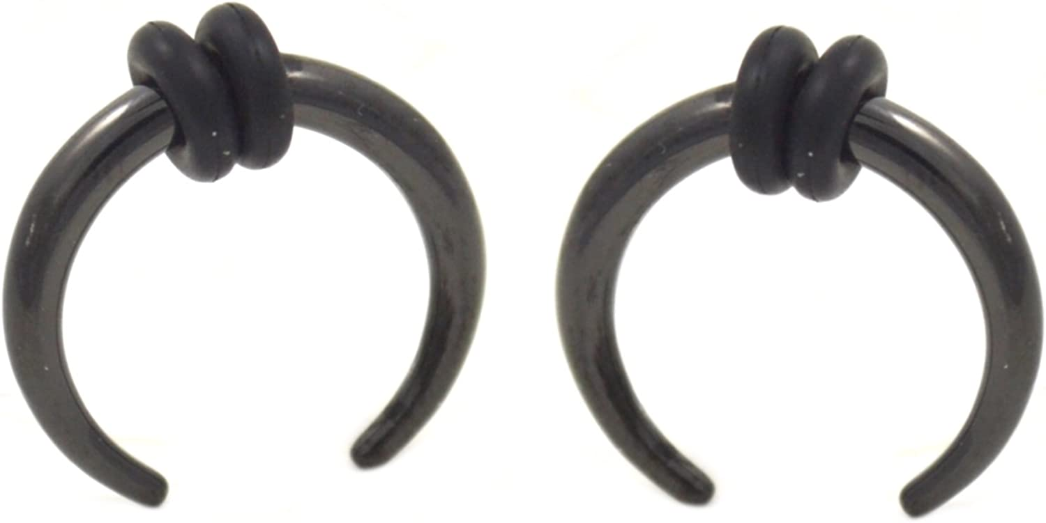 6G 4MM BYB Plugs Pair of All Black Titanium Plated Buffalo Tapers Pincher Stretching Gauges
