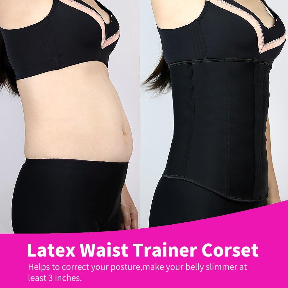 Slimming Corset Waist Trainer Steel Boned Long Torso for Women Weight Loss Beige