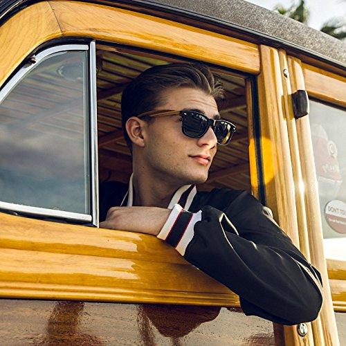7c4dc1fed2 Woodies Wayfarer Walnut Wood Sunglasses With Black Polarized Lenses ...