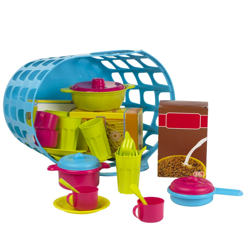 COLOR BABY Basket of Kitchenware Modern 33 piezas Blue