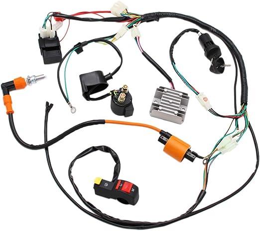 Amazon.com: Full Electrics Wiring Harness Performance Coil CDI 150 200 250cc  ATV Quad Bike Buggy Go Kart: Automotive