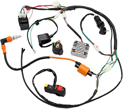 atv wiring kit amazon com full electrics wiring harness performance coil cdi 150  full electrics wiring harness